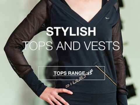 Womens sports tops and vests