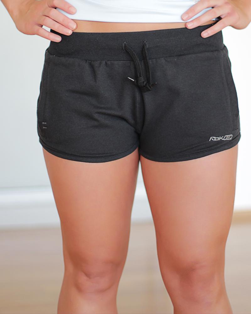 Reebok Jersey Shorts | Black Jersey Shorts | Womens Sports