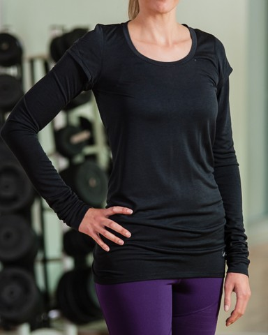 Black Nike Long Sleeved T-Shirt