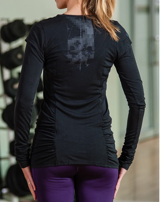 Black Nike Long Sleeved T-Shirt