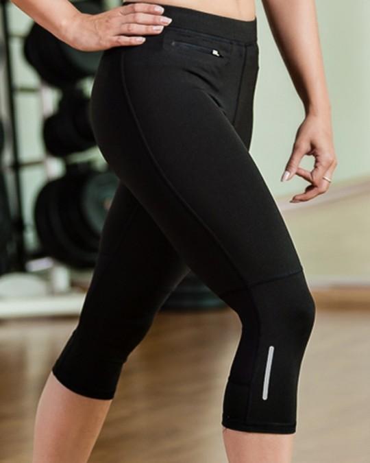 Black Puma 3/4 Tights Womens Sports Gear