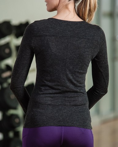 Balck Puma Long Sleeved Top