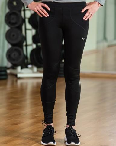 Puma Black Core Tights Womens Sports Gear