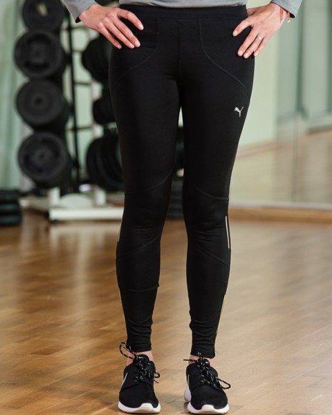 Puma Black Core Tights Womens Sports Gear