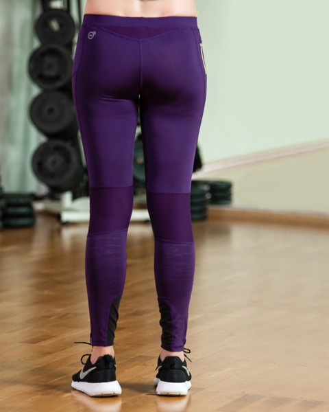 Purple Puma Core Tights Womens Sports Gear