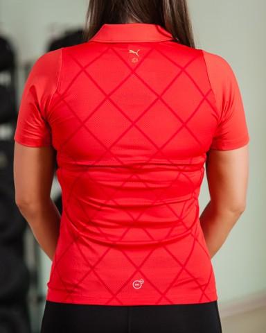 Red Puma Golf Polo Shirt