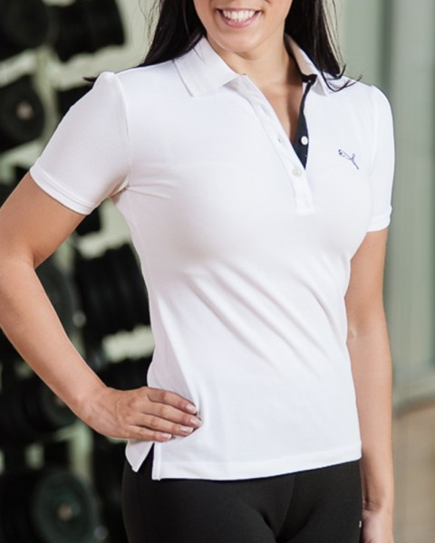 White Puma Golf Polo Shirt