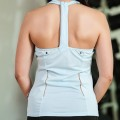 White Reebok T Back Training Top