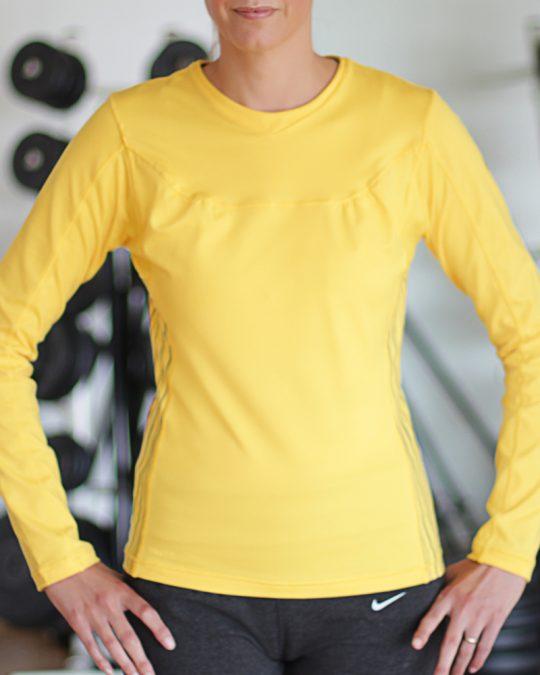 Nike Long Sleeved Yellow Top