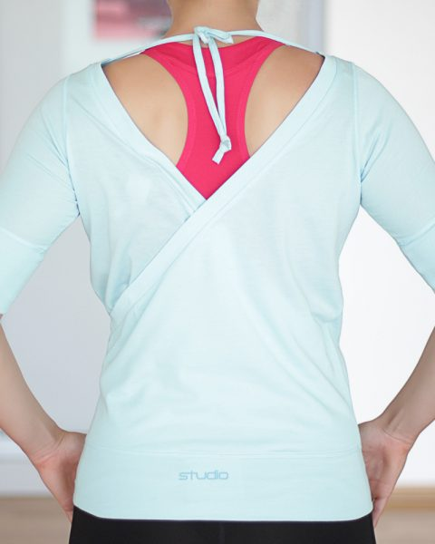 Nike Blue Wrap Top