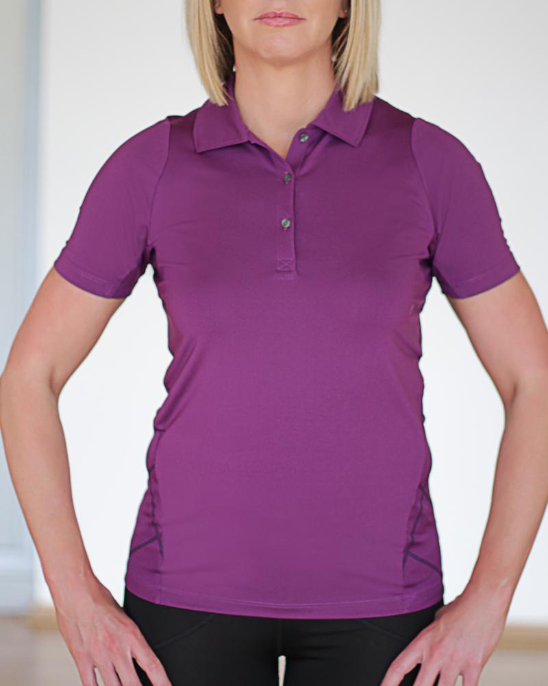 Puma Golf Polo Shirt Purple Polo Shirt Womens Sports Gear